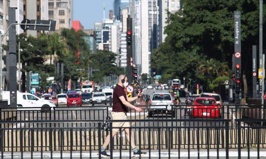 Center avenida paulista durante a pandemia de covid 192904200173